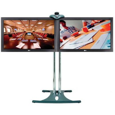 Multi-Screen Plasma Floor Stand - 84 inch Poles