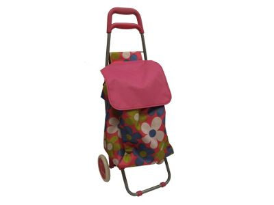 Hil Shoppng Trolley, Daisy Pink