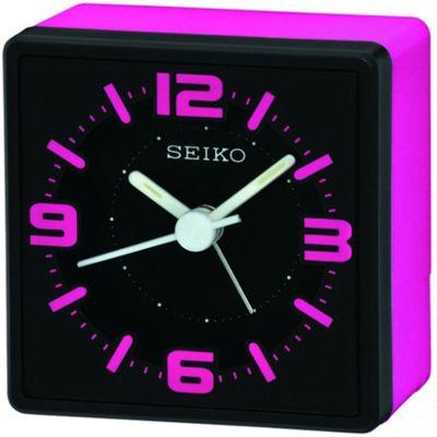 Seiko Analogue Bedside Alarm Clock - Pink QHE091P