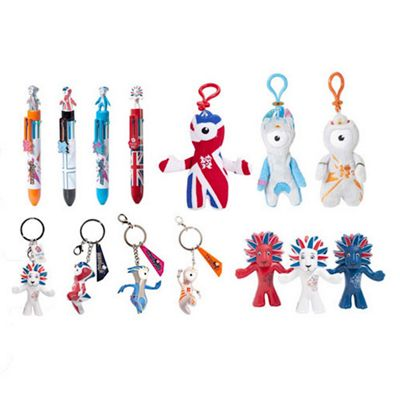 London 2012 Party Bundle - 7 Keyrings, 4 Pens and 3 Figure Pack
