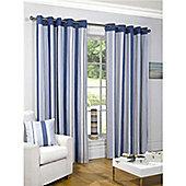 Newquay Eyelet Curtains 117 x 229cm - Blue