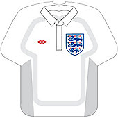 Large England Shirt Shaped Paper Plates - 8 Pack