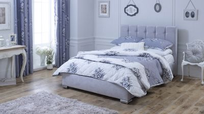 Catherine Lansfield Canterbury Silver Bed Frame - Single
