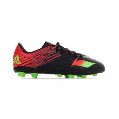 adidas Messi 15.4 FG Firm Ground Kids Football Soccer Boot Black/Red - UK 5