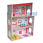 Bebe Style Tall Classic Mansion Doll House With Furniture