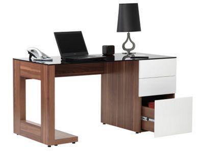 Alphason Walnut Executive Workstation