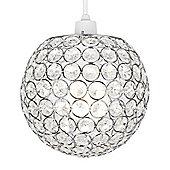 Ducy Ceiling Pendant Light Shade, Chrome
