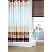 Hamilton McBride Printed Shower Curtain & Rings Set - Linear