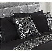 Cascade Home Waves Square Black Cushion - 45x45cm