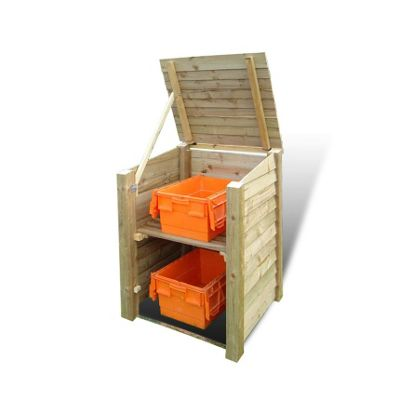 Morcott wooden single recycling storage unit