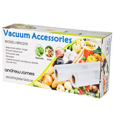 Andrew James Vacuum Food Sealer Roll - Cut to Length - 22cm x 10m