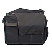 Diaper Dude Flap Messenger II Changing Bag Black