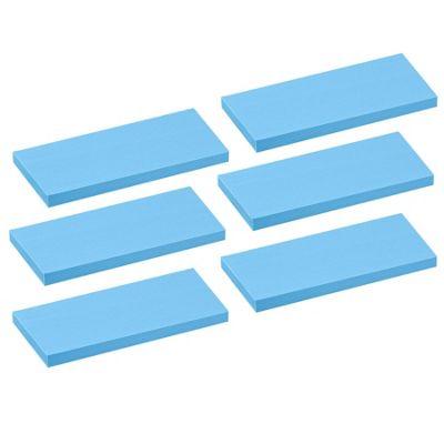 Floating Wooden Wall Shelves Shelf Wall Storage 80cm - Blue - x6
