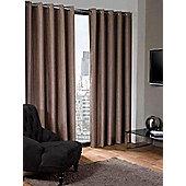 Logan Eyelet Thermal Blackout Curtains, Taupe 117x137cm