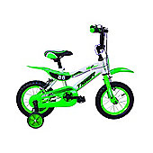"Tiger 88 Moto Kids Bike 14"" Wheel Green/White"