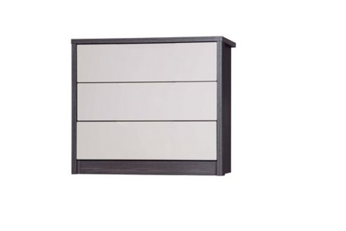 Alto Furniture Avola 3 Drawer Chest - Grey Avola With Sand Gloss