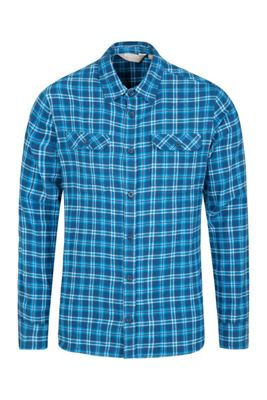 Mountain Warehouse Trace Mens Flannel Long Sleeve Casual Shirt with Zipped