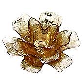 Gold Flower Tealight Holder