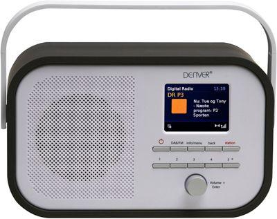 "Denver DAB-40 Black Portable DAB+ FM Digital Radio With Alarm Clock And 2.4"" Colour TFT Display"