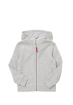 F&F Zip-Through Hoodie - Grey marl