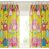 Peppa Pig Curtains 72s - Seaside