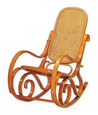 Bentwood Antique Style Rocking Chair-White