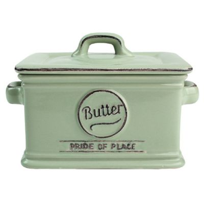 T&G Pride of Place Butter Dish, Green