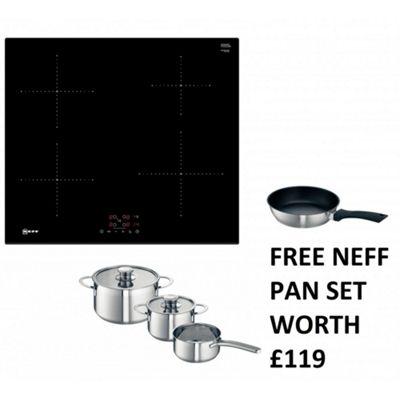 neff t36fb41x0g 60cm builtin low consumption plugin induction hob u0026 free pan