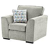 Boston Armchair, Light Grey