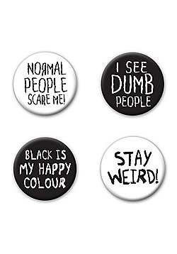 Stay Weird Badge Pack - Multi