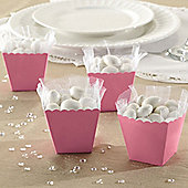 Baby Pink Scallop Favour Boxes