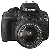 "Canon EOS 100D SLR Camera Black 18-55mm Image Stabiliser STM Lens 18MP 3"" Touch LCD"