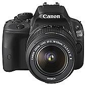 """Canon EOS 100D SLR Camera Black 18-55mm Image Stabiliser STM Lens 18MP 3"""" Touch LCD"""