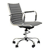 Jenson Faux Leather Office Chair Grey