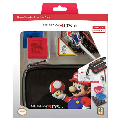 Nintendo 3DSXL Mario Bros Essentials Pack (Black)