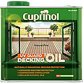 Cuprinol UV Guard Decking Oil - Natural Pine - 2.5 Litre