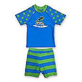 Jakabel Kids UV Sun Protection Set - Camper Van - Blue & Green