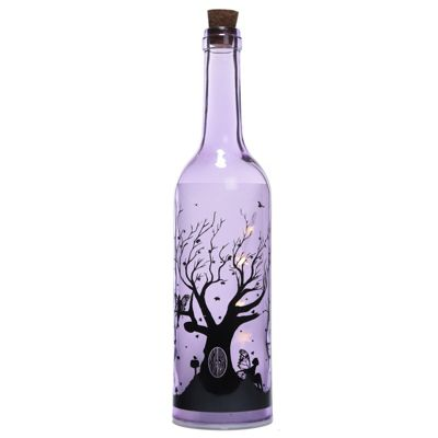 Puckator Fairy Tree Decorative Bottle with LED Bottle, Purple