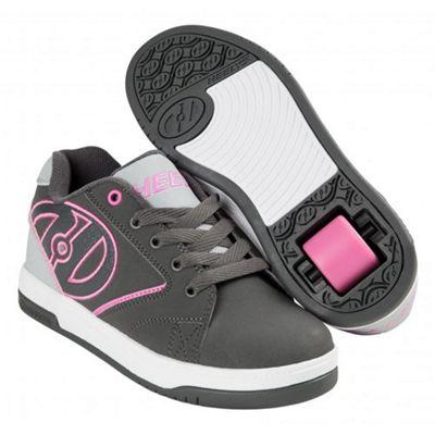 Heelys Propel 2.0 Charcoal/Grey/Pink Kids Heely Shoe UK 1