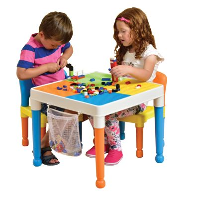 Buy Multipurpose Lego Activity Table & 2 Chairs with storage bag ...