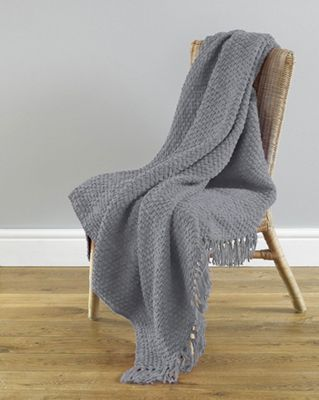 Country Club Chenille Throw, Grey 127x152cm