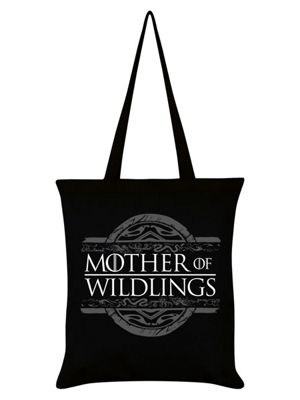 Mother Of Wildlings Tote Bag 38x42cm, Black