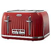 Breville VTT783 Impressions 4 Slice Toaster - Red