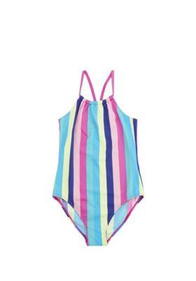 F&F Rainbow Stripe Swimsuit Multi 5-6 years