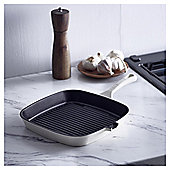 Go Cook Cast Iron Grill Pan Cream