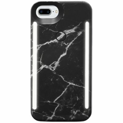 LuMee Duo LED Phone Selfie Case For iPhone 6+/6S+/7+/8+│Soft-Slim-Sleek│Black Marble