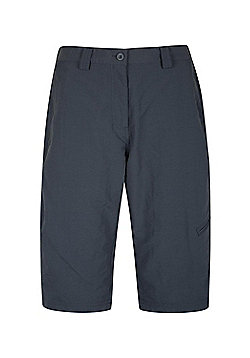 Mountain Warehouse Womens Lightweight Explore Long Shorts with Multiple Pockets - Dark grey