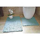 Rapport 2 Piece Bath Mat Set - Turquoise
