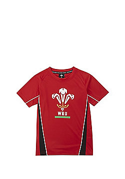 Welsh Rugby Union Short Sleeve T-shirt - Red
