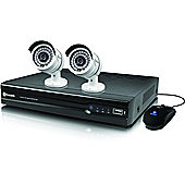 Swann NVR4-7082 4 Channel 720p Network DVR 1TB Hard Drive Video Recorder & 2 x NHD-806 Cameras